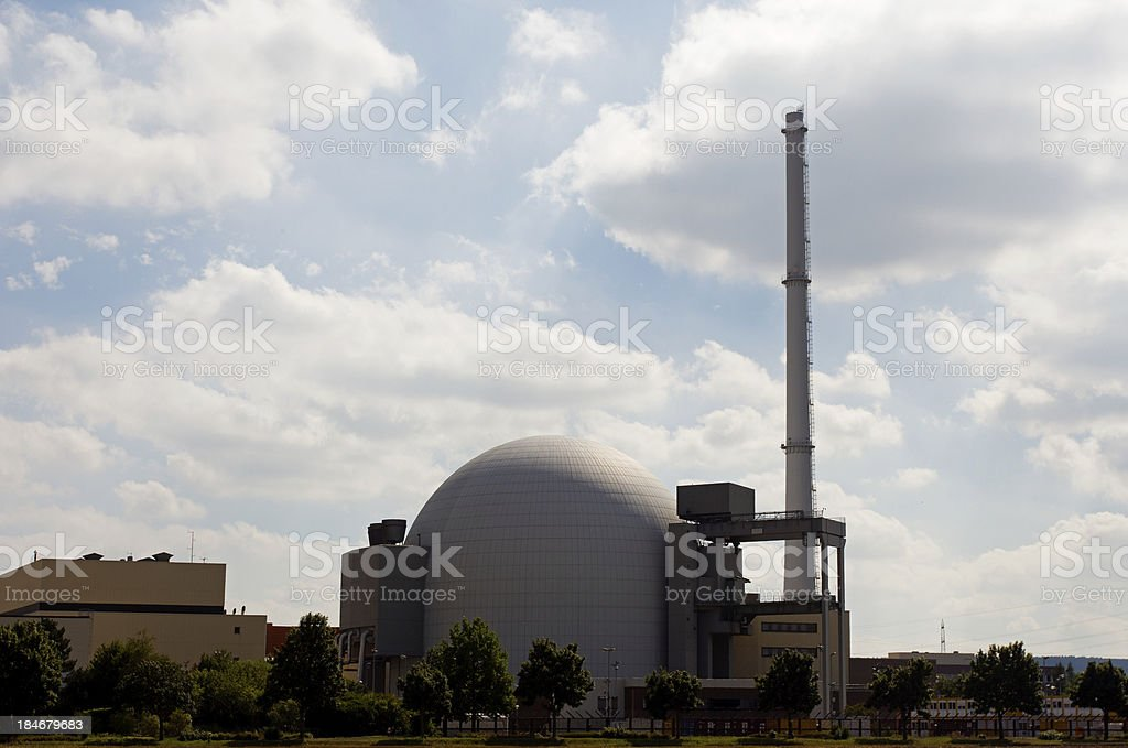 The dome of a nuclear reactor stock photo