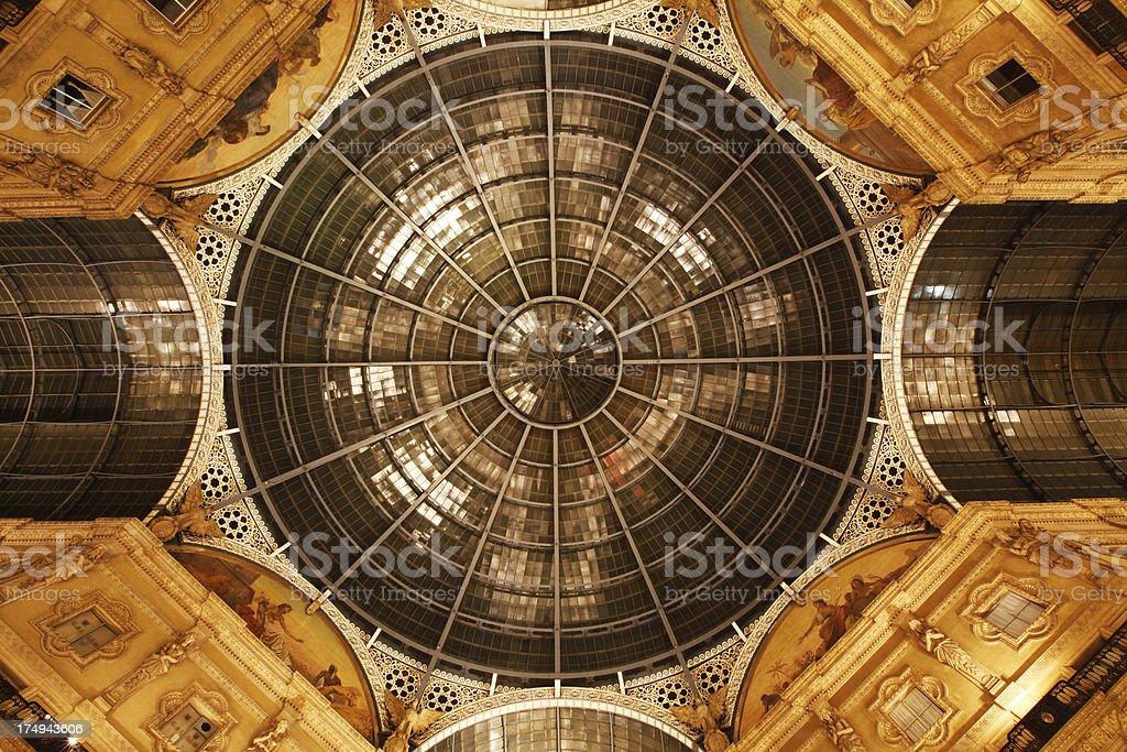 Die Kuppel der galleria vittorio emanuele II – Foto