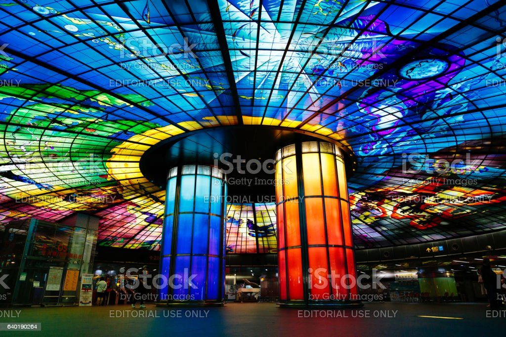 The Dome of Light at The Fomosa Bolevard Station stock photo