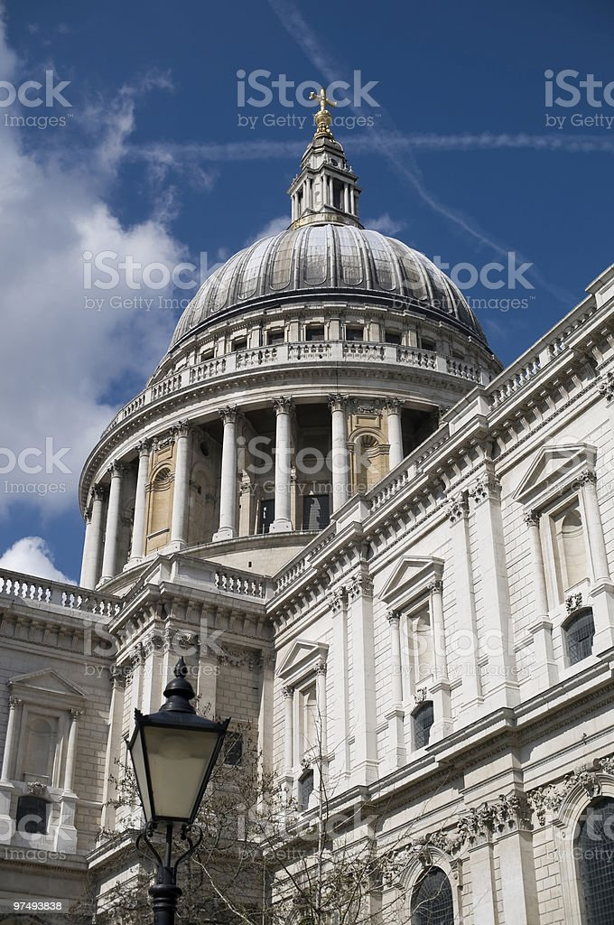 The dome of Saint Pauls cathedral royalty-free stock photo