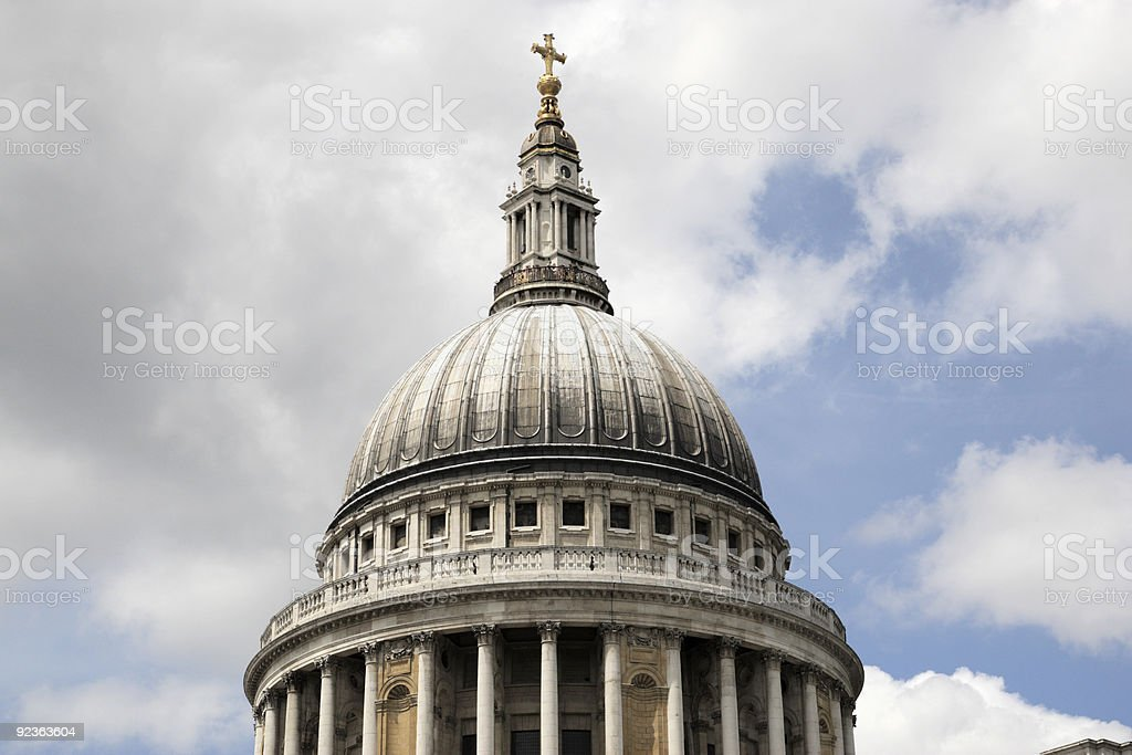 the dome of st paul's cathedral royalty-free stock photo