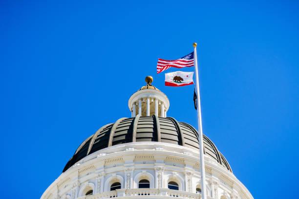 サクラメント、カリフォルニア州議会議事堂のドーム - 柱頭 ストックフォトと画像