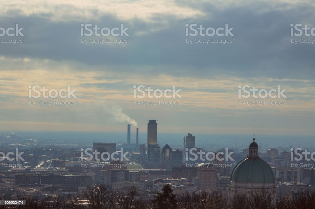 The dome of the Cathedral of Brescia - foto stock