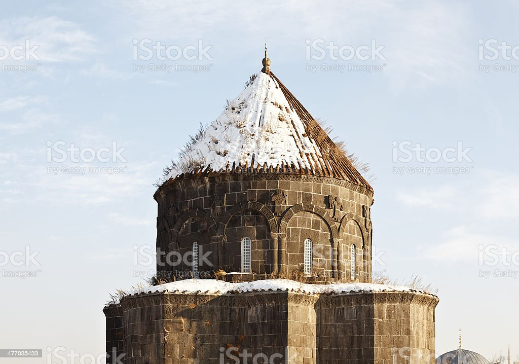 The Dome of the Holy Apostles Church, Kars-Turkey stock photo