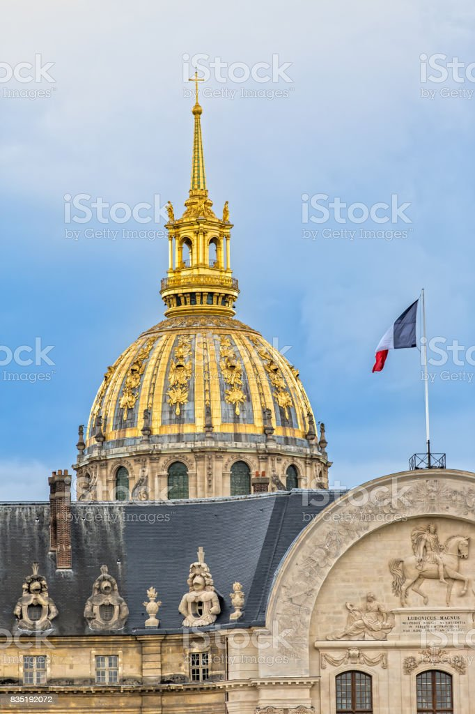 The Dome of the Hotel des Invalides stock photo