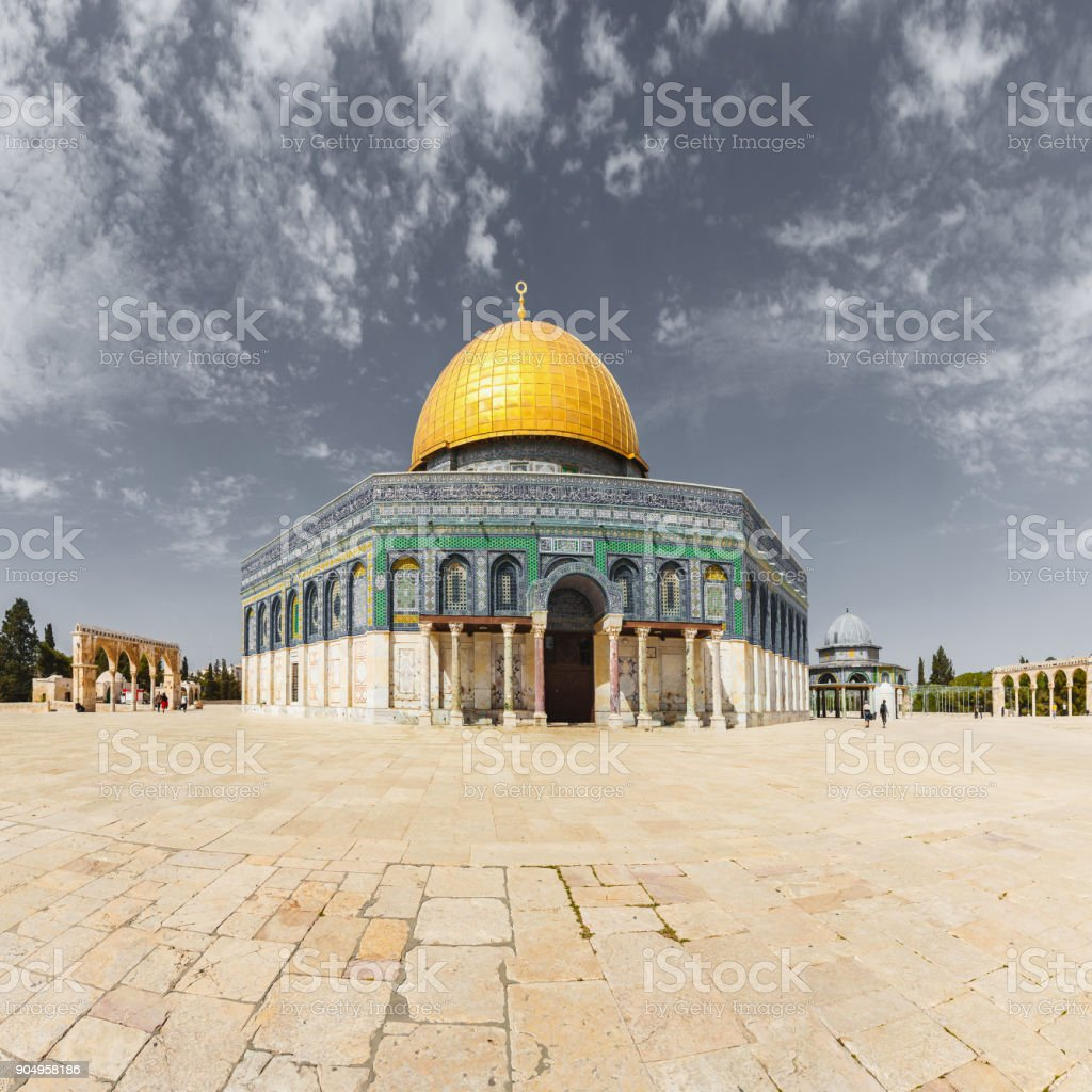 The Dome of the Rock on the Temple Mount in Jerusalem, Israel stock photo