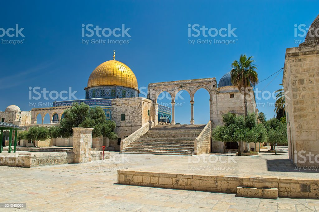 The Dome of the Rock stock photo