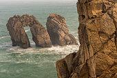 The Door of Cantabric sea. Urros de Liencres. Cantabria. Spain.