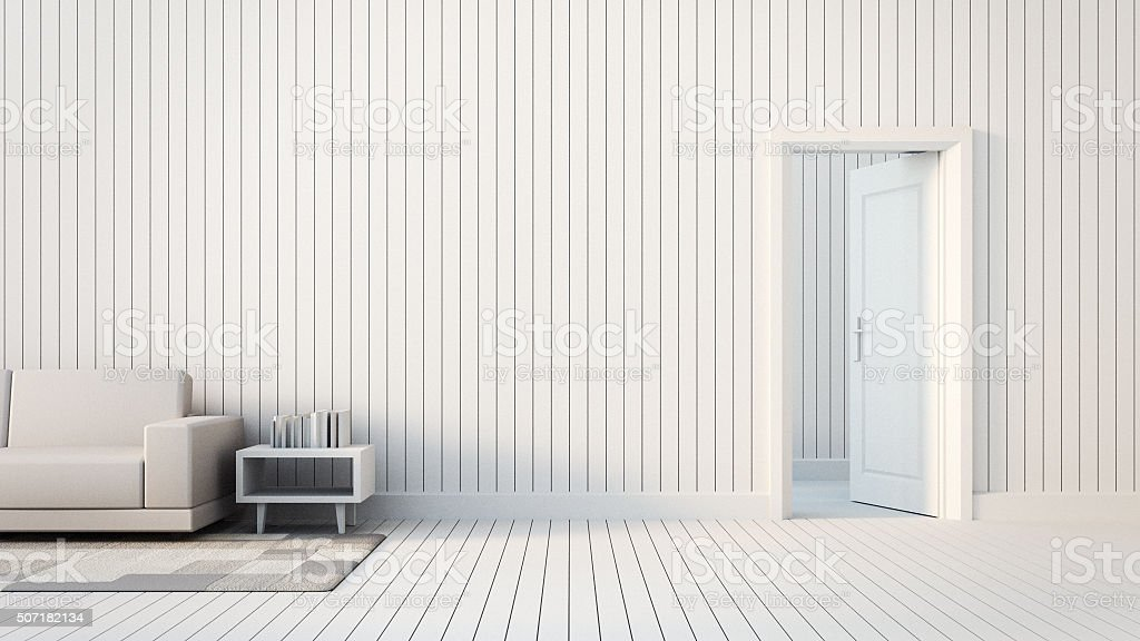 The door open to room stock photo
