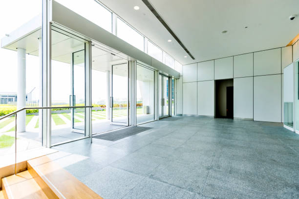 The doorway of office buildings The doorway of office buildings. entrance stock pictures, royalty-free photos & images