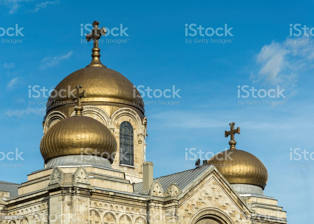 the Dormition of the Mother of God Cathedral in Varna stock photo
