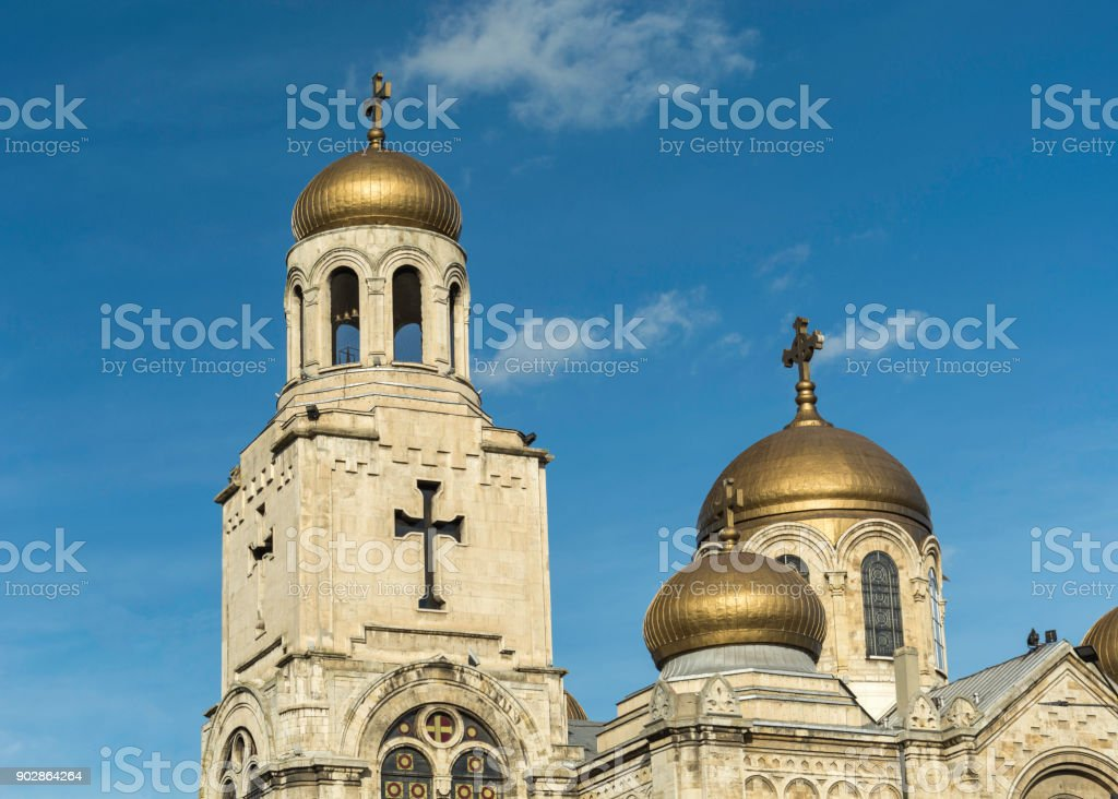 the Dormition of the Mother of God Cathedral stock photo