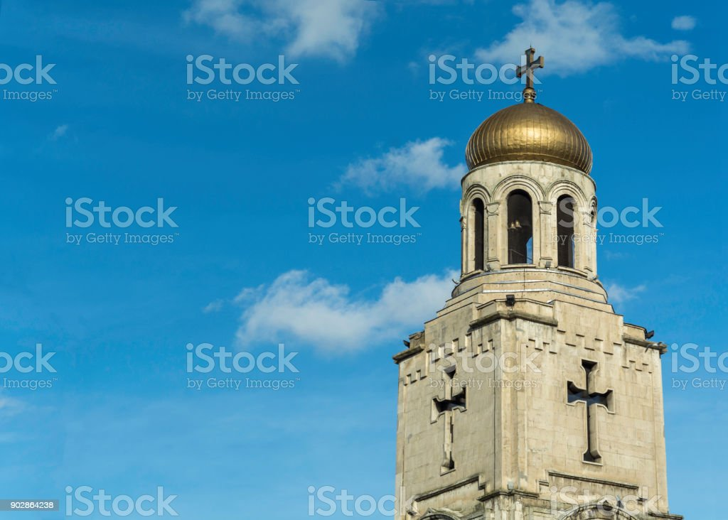 the Dormition of the Mother of God Cathedral roof stock photo