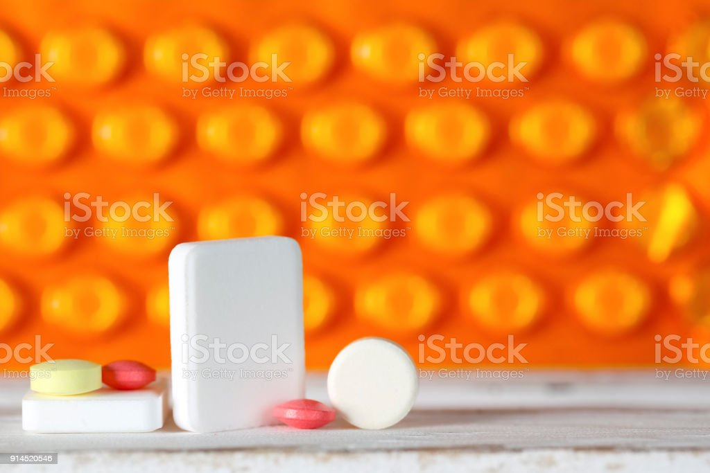 The dose of pills stock photo