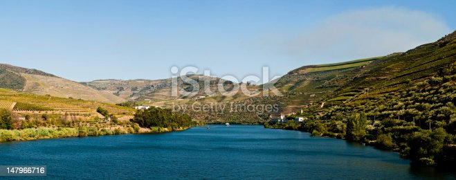 Image captured from the road some kilometers to the west of Oporto, the image shows the Douro river and his vinyards.