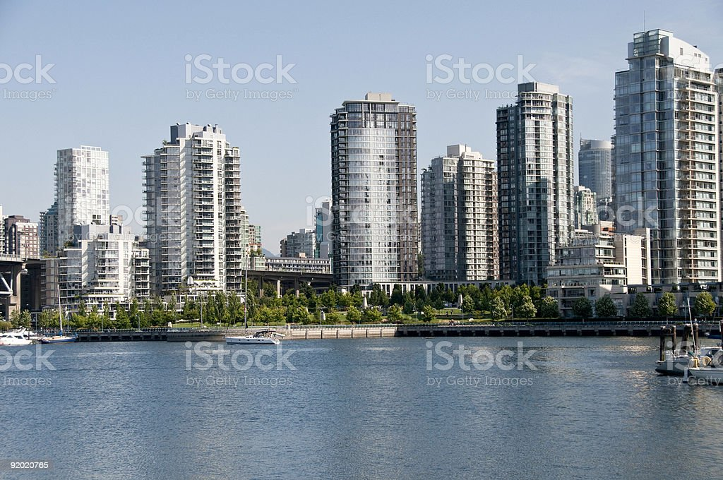 The downtown area of Vancouver, British Columbia, Canada. royalty-free stock photo