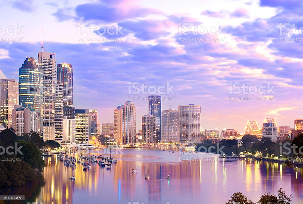The downtown of Brisbane stock photo