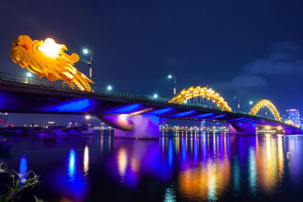 The Dragon Bridge, Da Nang, Vietnam stock photo