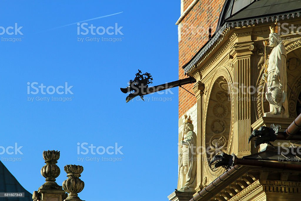 The Dragons of The Cathedral Basilica of St Stanislaw royalty-free stock photo