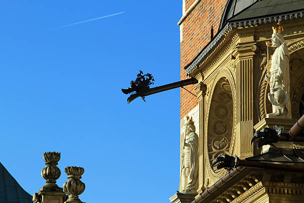 The Dragons of The Cathedral Basilica of St Stanislaw stock photo
