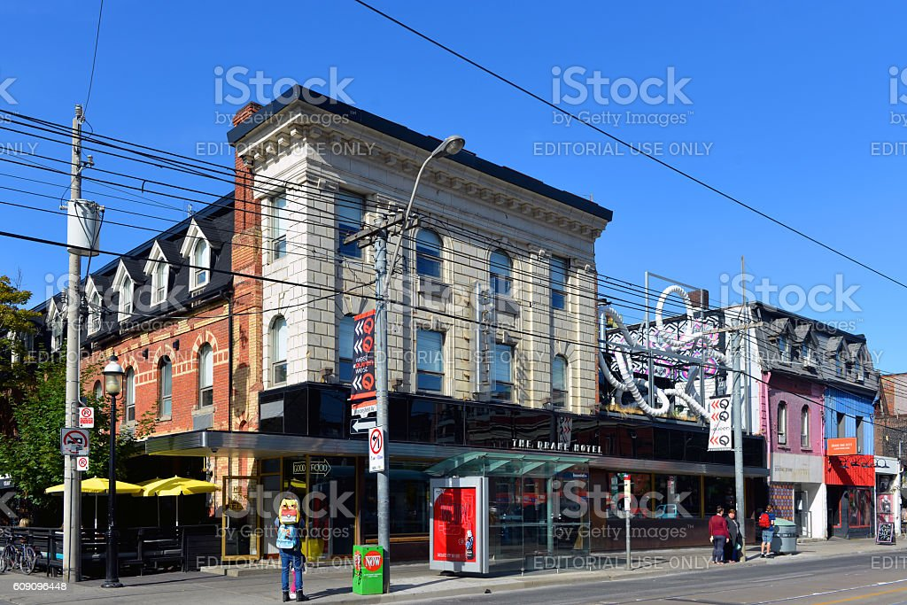 The Drake Hotel in Toronto stock photo