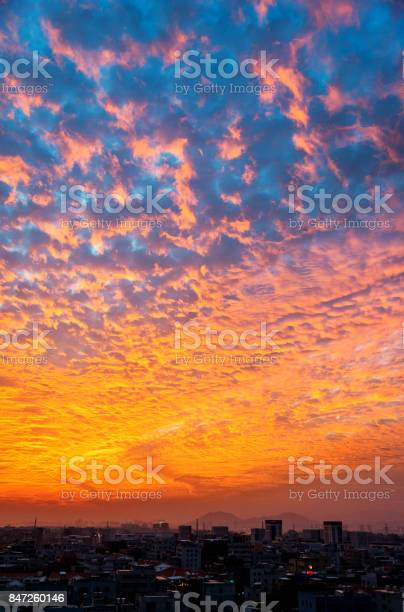 Photo of The dramatic sky at dusk