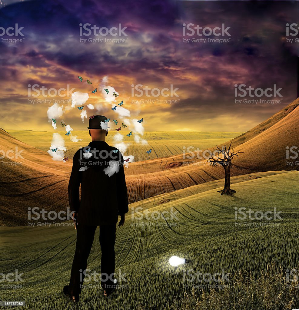 The Dreamer stock photo
