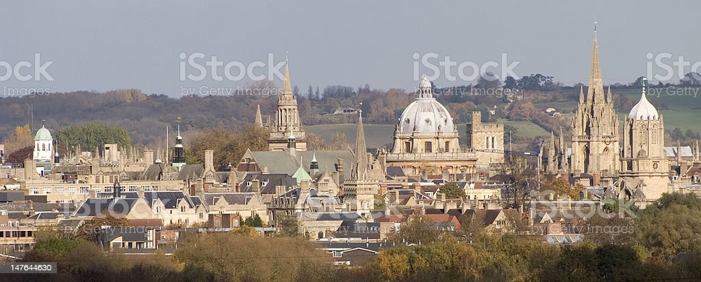 The Dreaming Spires of Oxford stock photo