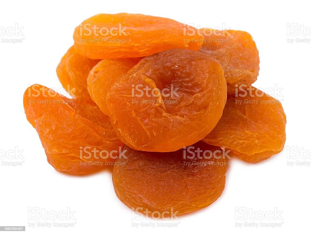 The dried apricots royaltyfri bildbanksbilder