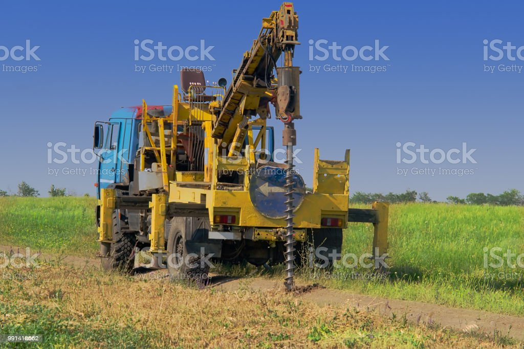 The drilling machine produces engineering and geological surveys for...