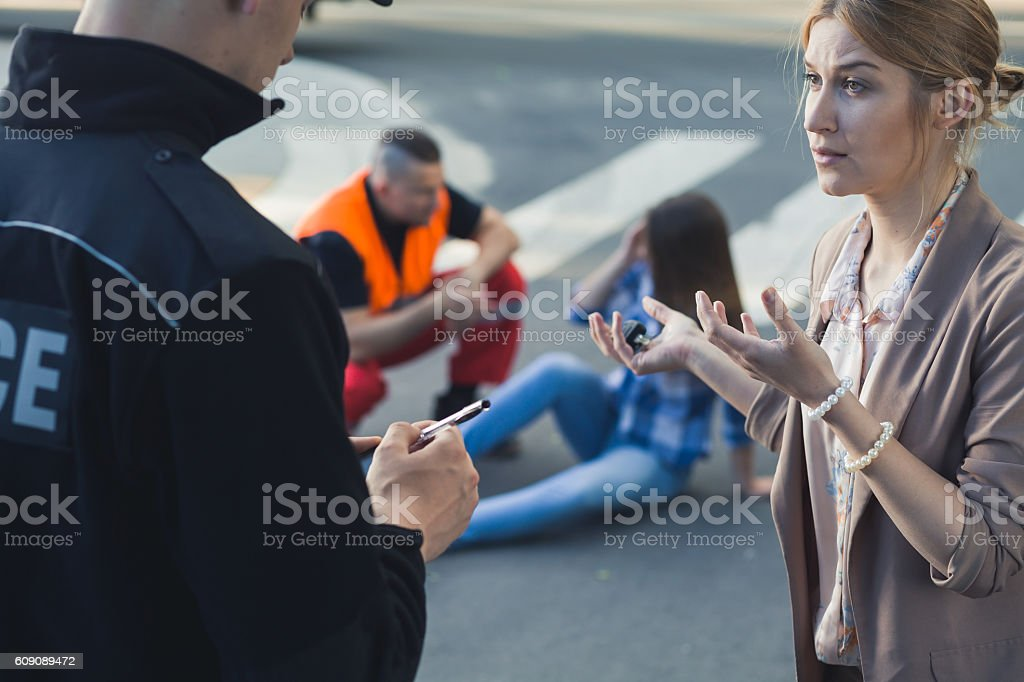 The driver raced too fast stock photo
