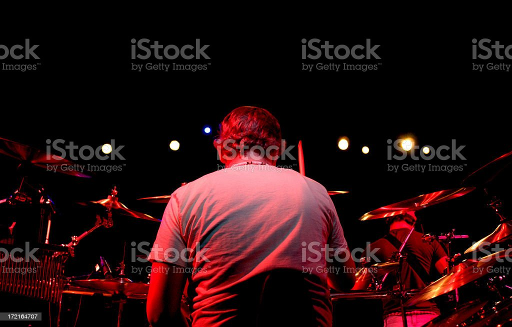 The Drummer royalty-free stock photo