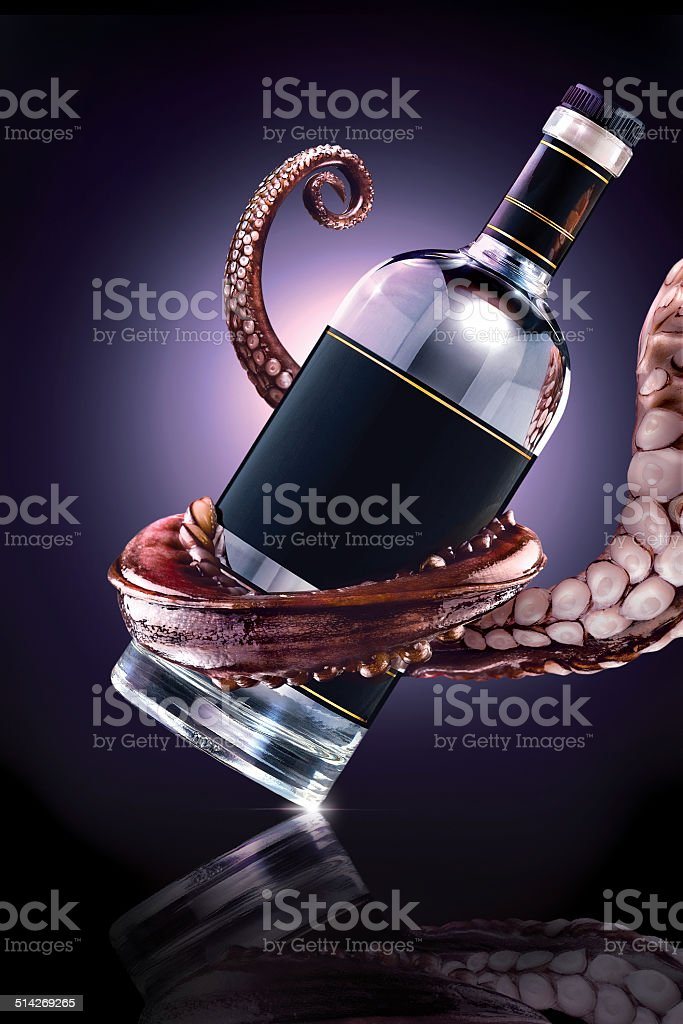 The drunk Ktulhu. stock photo