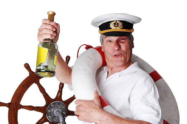 the drunken captain stock photo