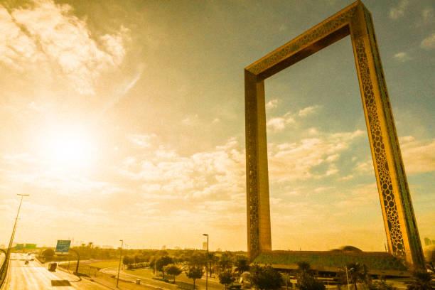 The Dubai Frame stock photo