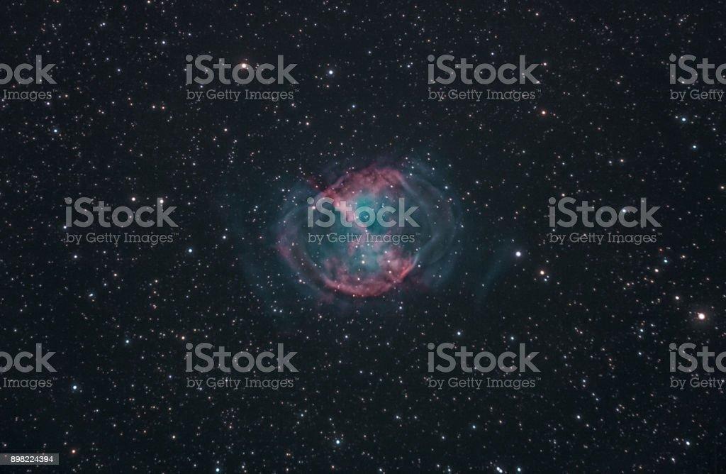 Hantel-Nebel, eine berühmte planetarischer Nebel befindet sich im Sternbild Vulpecula – Foto