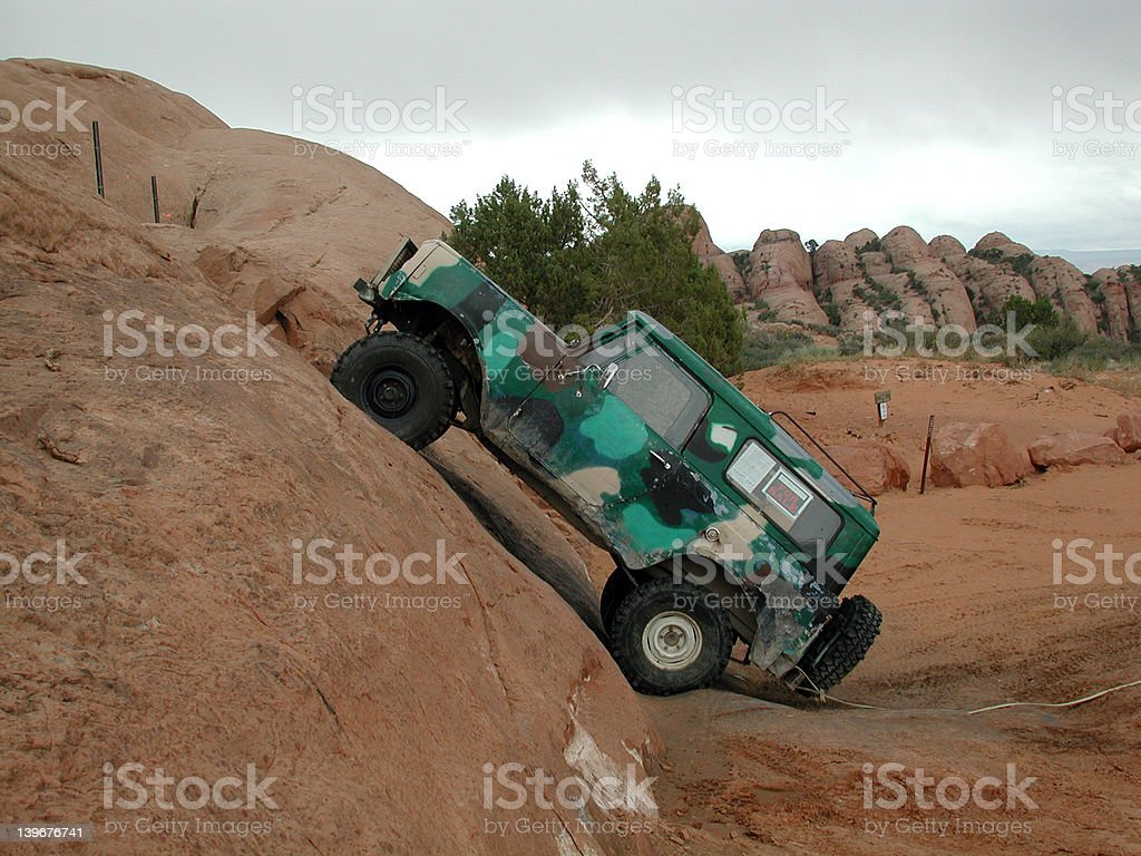 The dump bump. royalty-free stock photo
