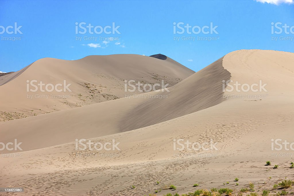 The dune peaks at Bruneau dunes. royalty-free stock photo