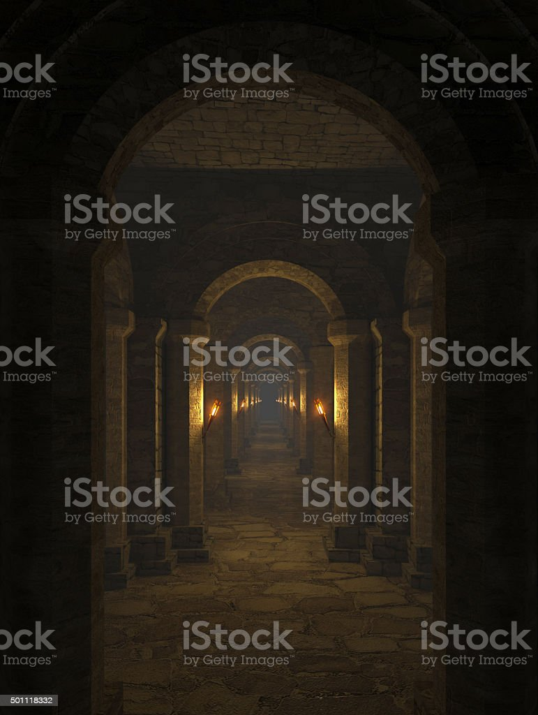 the dungeon stock photo