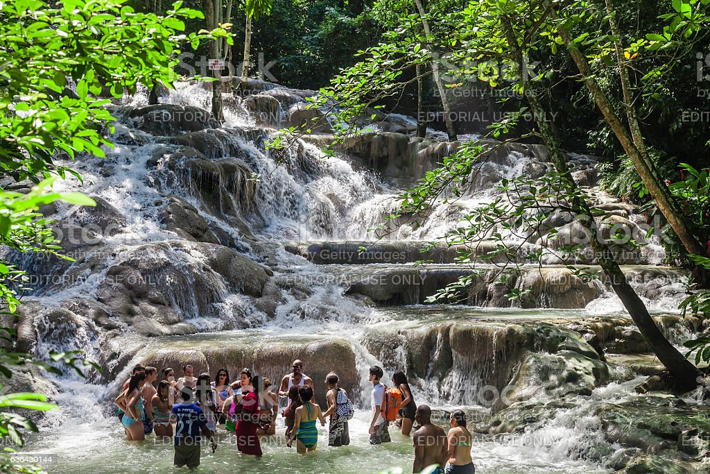 The Dunn's River Falls  in Jamaica - foto de stock
