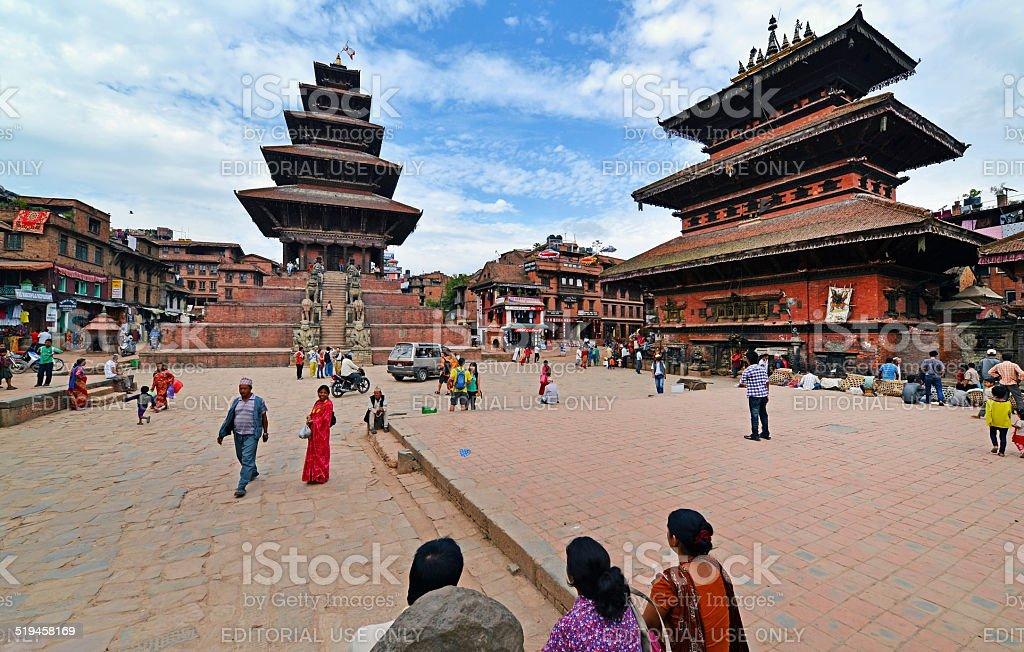 The Durbar square of Bhaktapur, Nepal stock photo