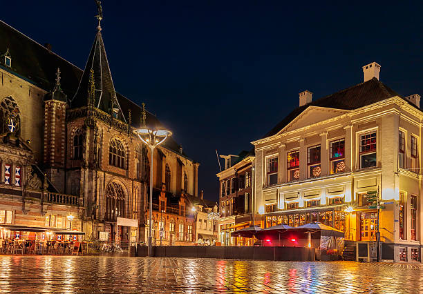 The Dutch central square in the city of Zwolle – Foto