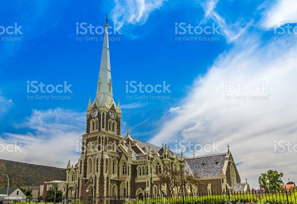 The Dutch Reformed church in Graaff Reinet stock photo