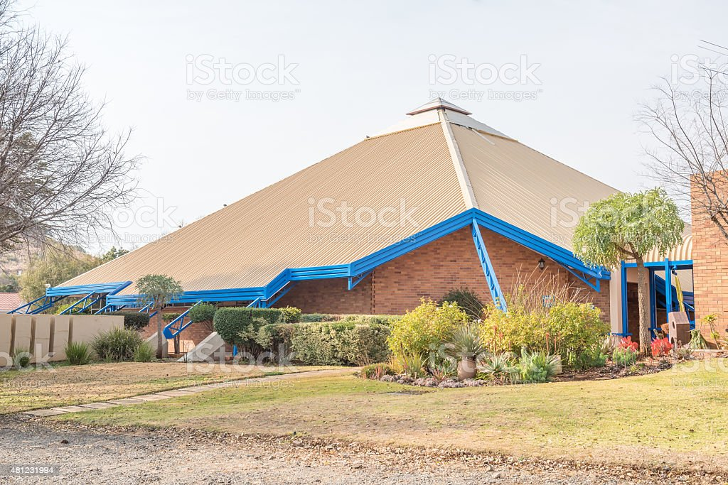 The Dutch Reformed Church in Langenhovenpark stock photo