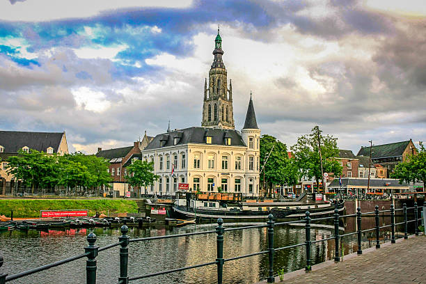 The Dutch town of Breda in the Netherlands stock photo