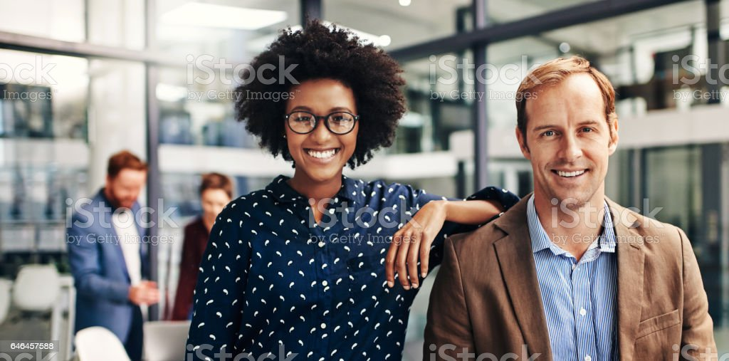 The dynamic duo heading up the newest startup stock photo