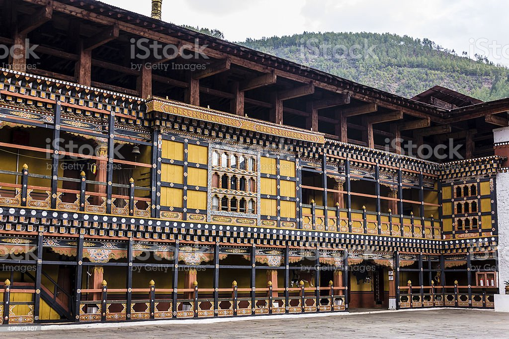 The dzong of Paro stock photo