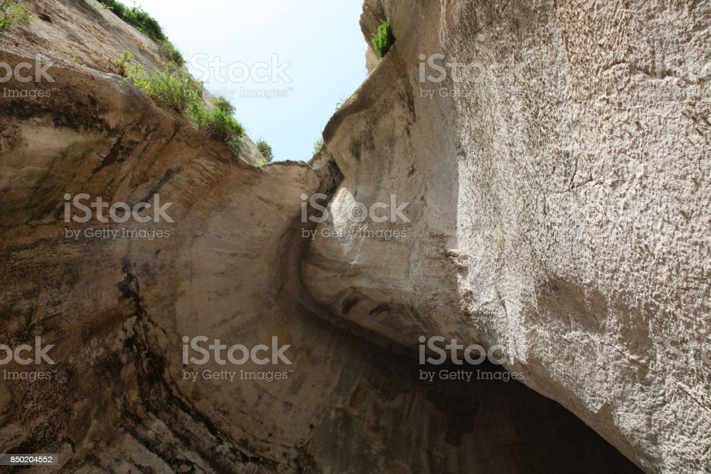 The Ear of Dionysus in Syracuse. Sicily. Italy stock photo