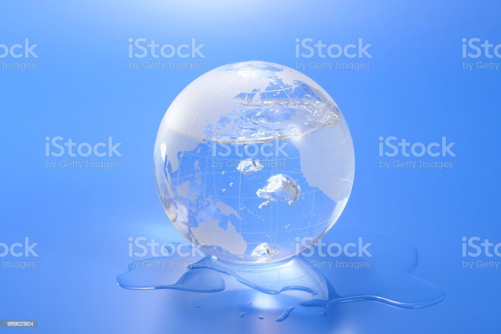 The earth and environmental problems royalty-free stock photo