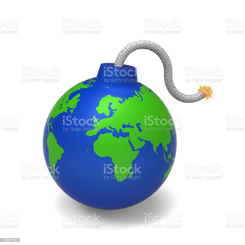 The Earth bomb royalty-free stock photo